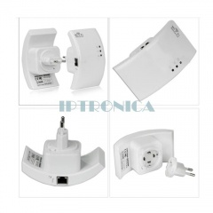 Wireless-N WiFi Repeater Router Range Expander Extender for WLAN Network AP Encryption
